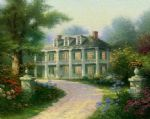 homestead house by thomas kinkade painting