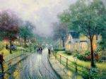 hometown memories by thomas kinkade painting