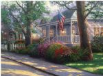 hometown pride by thomas kinkade painting