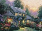 julianne s cottage by thomas kinkade painting