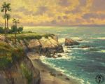 la jolla cove by thomas kinkade painting