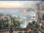 lombard street by thomas kinkade painting
