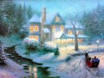 thomas kinkade moonlit sleigh ride prints