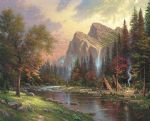 thomas kinkade mountains declare his glory paintings