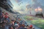 nascar thunder by thomas kinkade painting