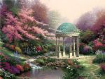 thomas kinkade pools of serenity painting