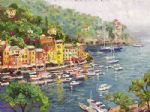 thomas kinkade portofino oil paintings