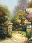 thomas kinkade rose gate oil paintings