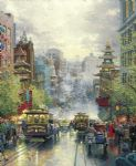 thomas kinkade san francisco a view down california street from nob hill painting