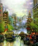 canvas prints - san francisco a view down california street by thomas kinkade