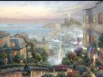 san francisco lombard street by thomas kinkade painting