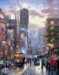 thomas kinkade san francisco powell street oil paintings