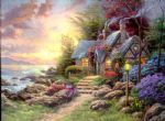 thomas kinkade seaside hideaway oil paintings