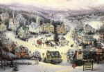 st. nicholas circle by thomas kinkade painting