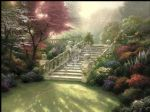 stairway to paradise by thomas kinkade painting