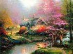 thomas kinkade stepping stone cottage prints