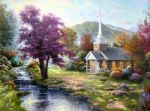 living watercolor paintings - streams of living water by thomas kinkade
