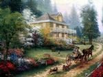 thomas kinkade sunday at apple hill painting