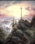sunrise by thomas kinkade painting