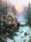 thomas kinkade sweetheart cottage ii painting-83136