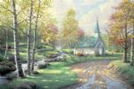 thomas kinkade the aspen chapel painting