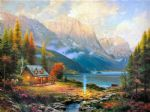 thomas kinkade the beginning of a perfect day paintings