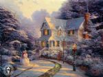 the night before christmas by thomas kinkade painting