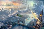 thomas kinkade tinker bell and peter pan fly to neverland prints
