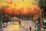 town square by thomas kinkade painting