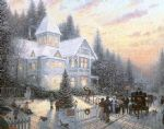 christmas famous paintings - victorian christmas by thomas kinkade
