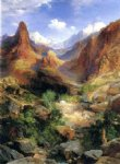 angel watercolor paintings - bright angel trail by thomas moran