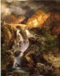 cascading water by thomas moran posters