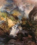 children watercolor paintings - children of the mountain by thomas moran