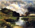 thomas moran cloudy day at amagansett painting
