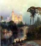 thomas moran acrylic paintings - fantastic landscape by thomas moran