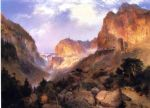 golden gateway to the yellowstone by thomas moran posters