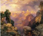 thomas moran grand canyon with rainbows art