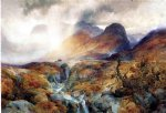 pass at glencoe scotland by thomas moran painting