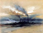 thomas moran smelting works at denver paintings