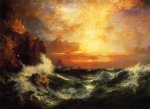 thomas moran sunset near land s end cornwall england painting-24376