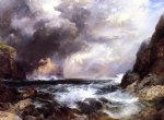 thomas moran tantallon castle north berwick scotland painting