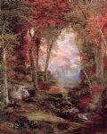 thomas moran the autumnal woods under the trees posters
