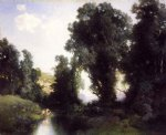 the bathing hole cuernavaca mexico by thomas moran painting