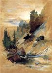 thomas moran the devil s den on cascade creek painting