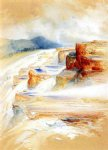 the hot springs of gardiners river dianas baths by thomas moran painting
