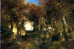 the woodland pool by thomas moran posters