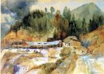 thomas moran acrylic paintings - trojes mine by thomas moran