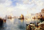 thomas moran venice the grand canal with the doge s palace oil paintings