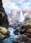 thomas moran waterfall in yosemite painting 24460