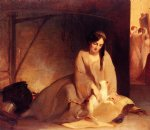 thomas sully art - cinderella at the kitchen fire by thomas sully